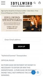 Boot Barn – Idyllwind Summer – Win one $1000 e-gift card valid on Idyllwindcom
