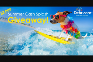 Debtcom – Summer Cash Splash Giveaway Sweepstakes