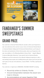 Fandango – Summer – Win a four (4) day