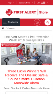 First Alert – Fire Prevention Week 2019 – Win Safe & Sound Smart Alarm (Value $299.95) 2nd Prize – Onelink Safe & Sound Smart Alarm (Value $299.95) 3rd Prize – Onelink Safe & Sound Smart Alarm (Value $299.95)