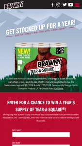 Georgia-Pacific – Brawny Tear-A-Square Summer Sweepstakes