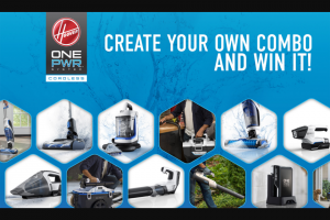 Hoover – Onepwr Build Your Own Combo Social Sweepstakes