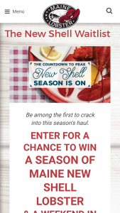 Maine Lobster Collaborative – Season Of Maine Lobster – Win a trip for winner and one (1) guest within the continental United States to Portland