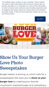 Monterey Mushrooms – Show Us Your Burger Love – Win a BBQ Prize Package