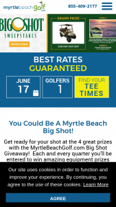 Myrtlebeachgolfcom – Big Shot Giveaway – Win MET Glacier CC – 999917 Golf Cart valued at over $12306.60 provided by Club Car and on display in the PGA superstore