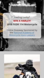 National Academy Of Motorcycle Injury Lawyers – Fxdr 114 Harley Davidson Motorcycle Online – Win year 2019 Harley Davidson FXDR 114 Motorcycle $21000 package value