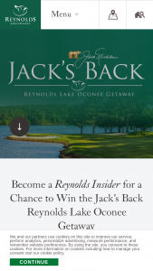 Oconee Golf – Jack's Back Reynolds Lake Oconee Getaway With Jack Nicklaus Sweepstakes