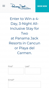 Panama Jack Resorts – Choose Your Adventure Sweepstakes
