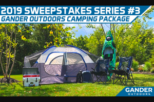 "Pocono Raceway – ""2019 Sweepstakes Series #3"" – Win Raceway G/A Infield RV campsite including RV site and 2 Infield Guest Passes from 07/26-07/28/19 during the Pocono Raceway GANDER RV 400 and a Gander Outdoors Prize Package"