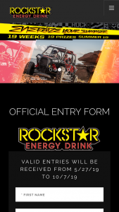 Rockstar – Energize Your Summer Sweepstakes
