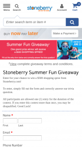 Stoneberry – Summer Fun Giveaway – Win a $500 shopping spree on Stoneberrycom