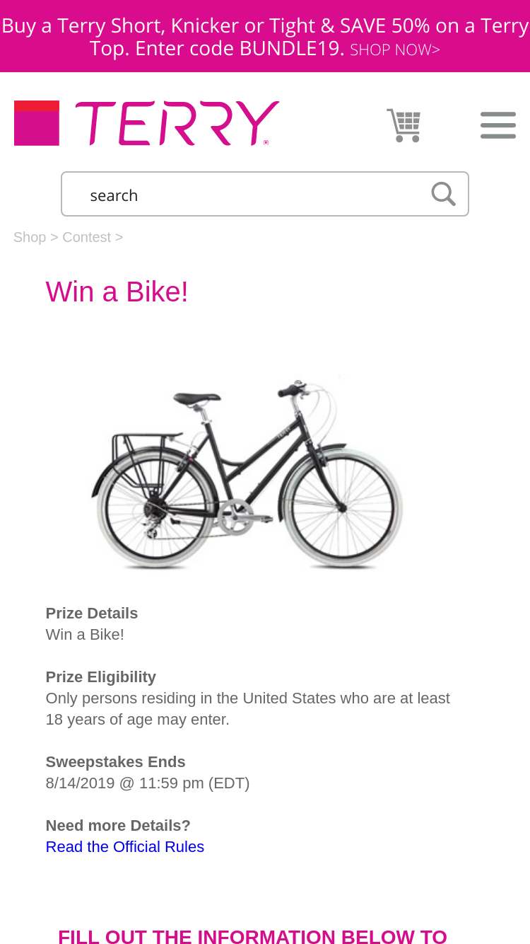 Terry Bicycles – Bike – Win a Terry Bicycle | GiveawayUS com