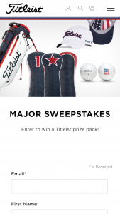 Titleist – 2019 June Major Sweepstakes