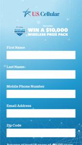 Us Cellular – Wireless Warrior Sweepstakes