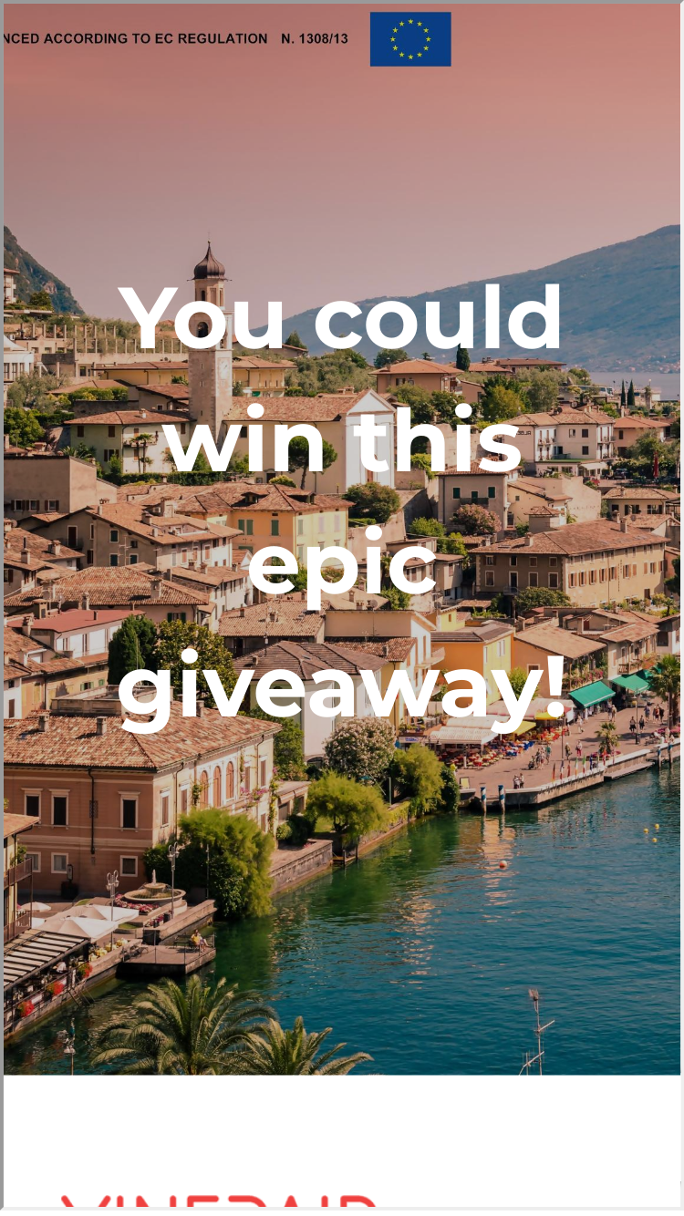 win a trip to italy sweepstakes