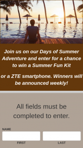Zte USA – Days Of Summer – Win a ZTE phone which has an ARV of $150.