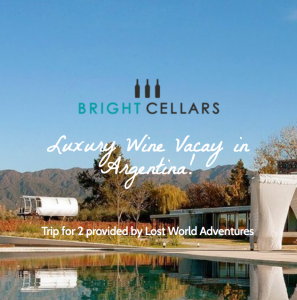 Bright Cellars – Win a holiday for 5 nights in Argentia