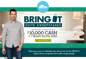 HGTV – Win a $10,000 check PLUS 7-night stay at a Hilton hotel of their choice