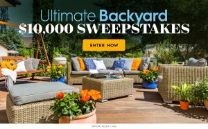 Meredith – Better Homes and Gardens – Win $10,000 for your Ultimate Backyard