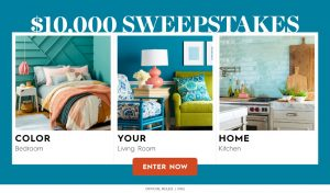 Meredith – Better Homes and Gardens – Win a $10,000 check to Color Your Home