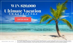 Meredith – Southern Living – Win a $20,000 check for a luxury vacation