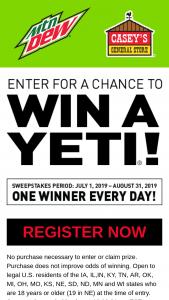 Casey's – Yeti Sweepstakes   GiveawayUS com