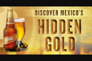 Cervezas Mexicanas – Bohemia Hidden Gold  – Win five hundred dollar ($500) gift card from the gift card provider as solely determined and designated by Sponsor