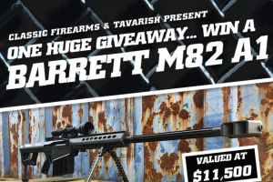 Classic Firearms – Barrett M82 A1 Rifle – Win M82A1 Rifle w/ Vortex Viper Scope The approximate retail value of the prize is USD $11500.