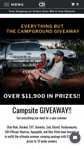 Club Ride – Everything But The Campsite Giveaway Sweepstakes