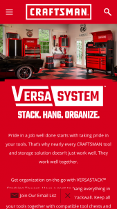 Craftsman – Versasystem Dream Garage Giveaway Sweepstakes