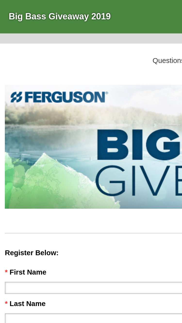 Ferguson & Bass Pro Shop – Big Bass Giveaway 2019