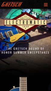 Gretsch – Sound Of Honor Summer Sweepstakes