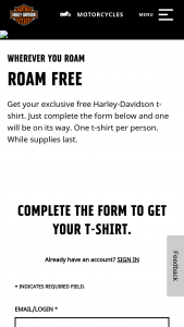 Harley Davidson – All For Freedom Freedom For T-Shirt Giveaway Sweepstakes