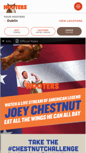 Hooters – National Chicken Wing Day Sweepstakes