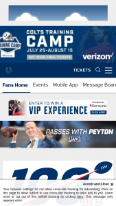 Indianapolis Colts – Passes With Peyton – Win an autographed football from Peyton Manning