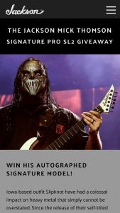 Jackson Guitars – Mick Thomson Signature Pro Sl2 Sweepstakes