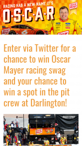 Kraft Heinz Foods – Oscar Mayer #omsweeps – Win a race trip package for Winner and one guest