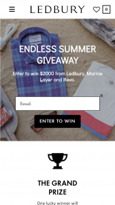 Ledbury – Endless Summer – Win value of the prize if applicable