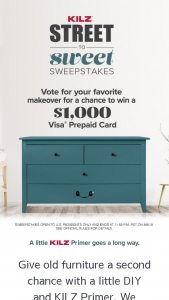 Masterchem – Kilz Street To Sweet – Win one $1000 VISA Virtual Account