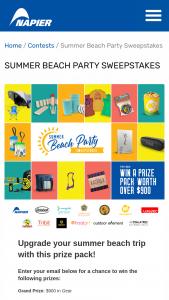 Napier Outdoors – Summer Beach Party Sweepstakes