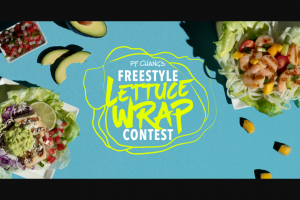 Pf Chang's – Freestyle Lettuce Wrap Contest – Win opportunity to have his/her Submission featured as a limited time offering on the PF Chang's menu with potential to be long term
