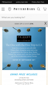 Pottery Barn – The One With The Free Trip To La Sweepstakes