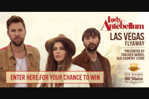 Premiere Networks – Landy Antebellum Las Vegas Flyaway Presented By Cracker Barrel – Win and ARV and such difference will be forfeited