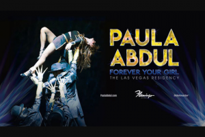 "Premiere Radio Networks – American Top 40 Flashback With Paula Abdul – Win (3) day/two (2) night trip for Winner and one (1) guest (together the ""Attendees"") to see the Las Vegas residency show Paula Abdul Forever Your Girl at the Flamingo Las Vegas (the ""Concert"")."