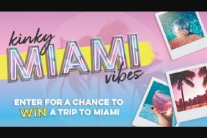 Prestige Beverage Group – Kinky Miami Vibes – Win a grand prize trip to Miami