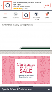 QVC – Christmas In July – Win will be awarded which will consist of $25000 awarded in the form of a check