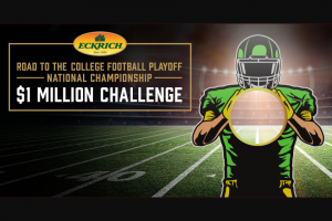 Smithfield Eckrich – 2019 College Football $1m Challenge – Win $25000 annually for 40 years