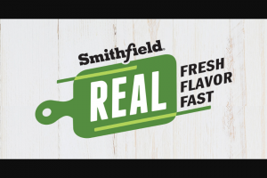 Smithfield – Real Flavor Real Fast Contest And Sweepstakes
