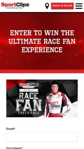 Sport Clips – Ultimate Race Fan Experience – darlington Sweepstakes