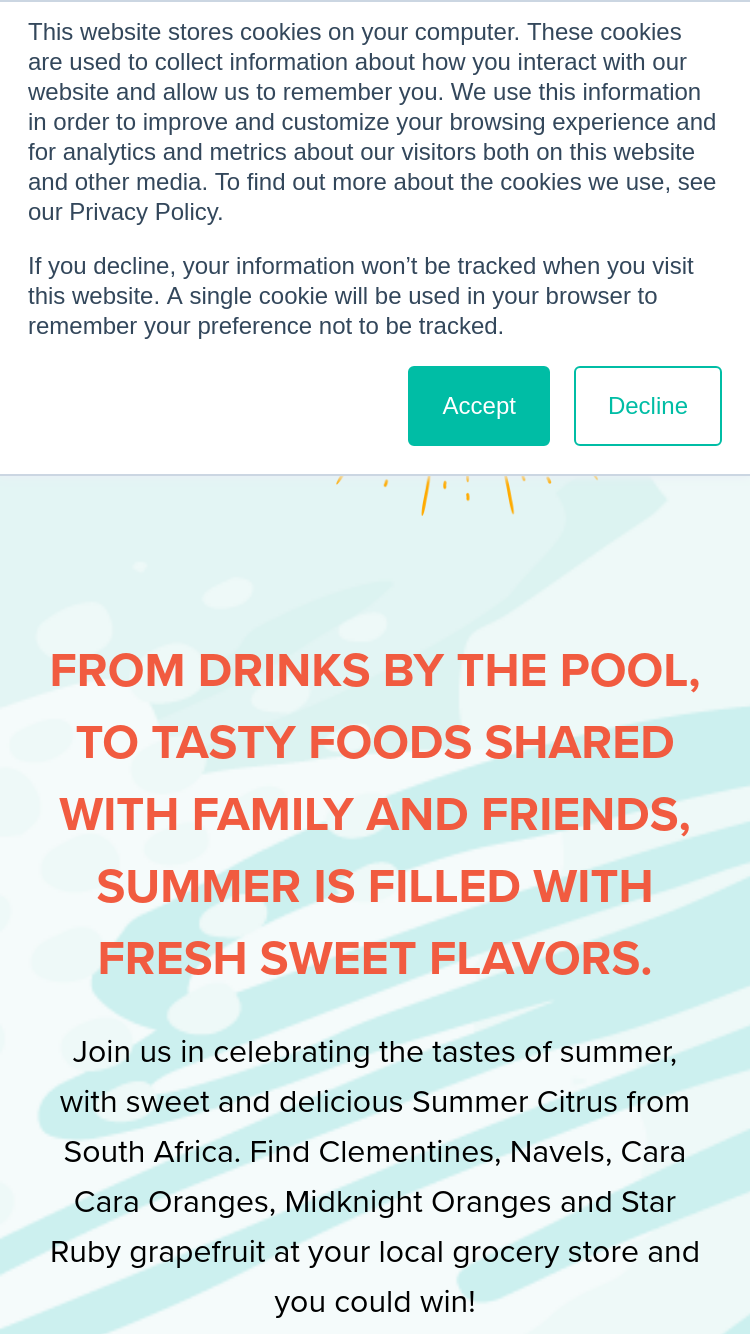 Summer Citrus – Taste Of Summer Sweepstakes | GiveawayUS com